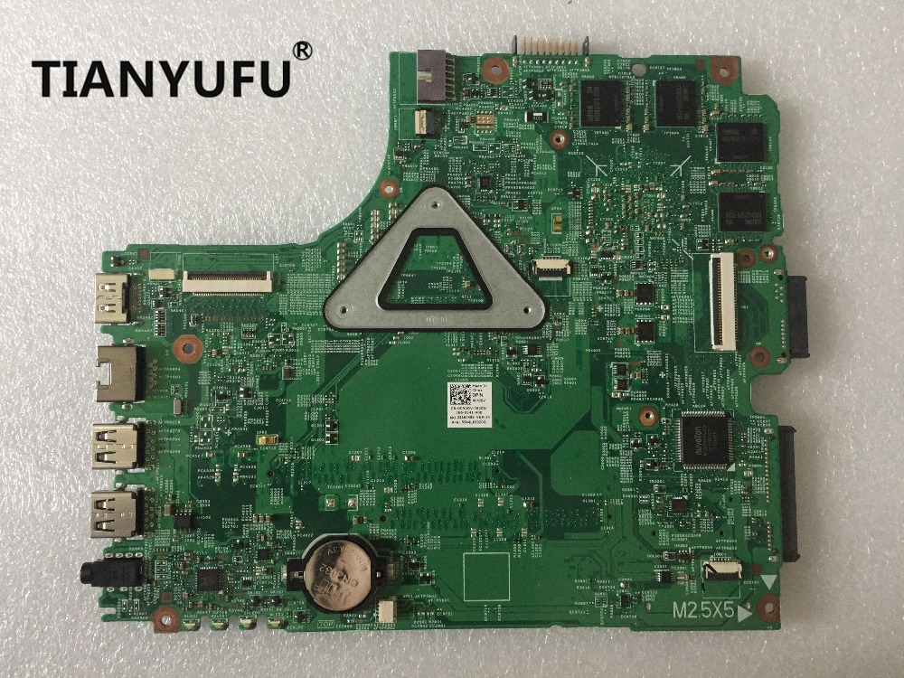 Image 2 - 12307 2 for dell Inspiron 3437 5437 laptop motherboard DOE40 HSW GDDR5 12307 2 DDR3L With i5 CPU Motherboard tested 100% workMotherboards   -