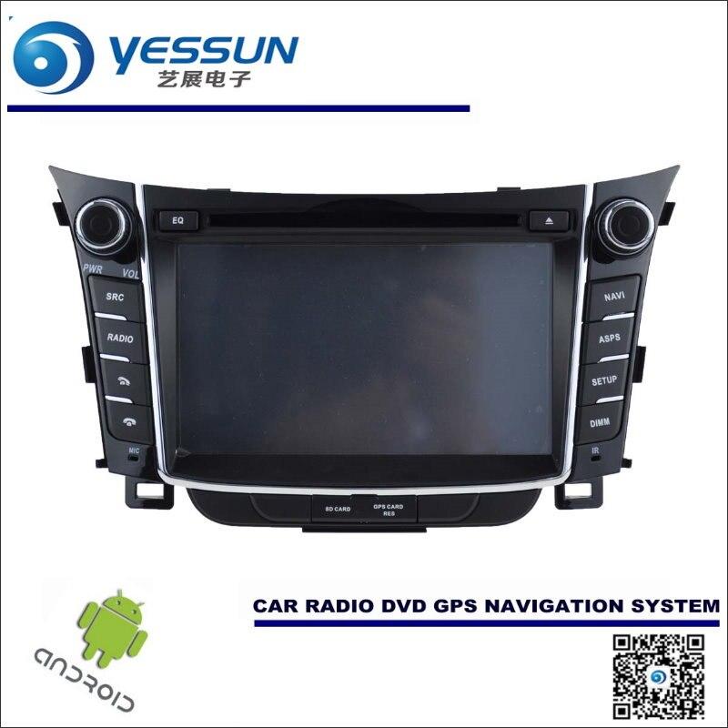 Android Sistema de Navegación del coche Para Hyundai i30/Elantra GT 2012 ~ 2017-Radio CD Reproductor de DVD Estéreo DEL GPS Navi Multimedia de Pantalla HD