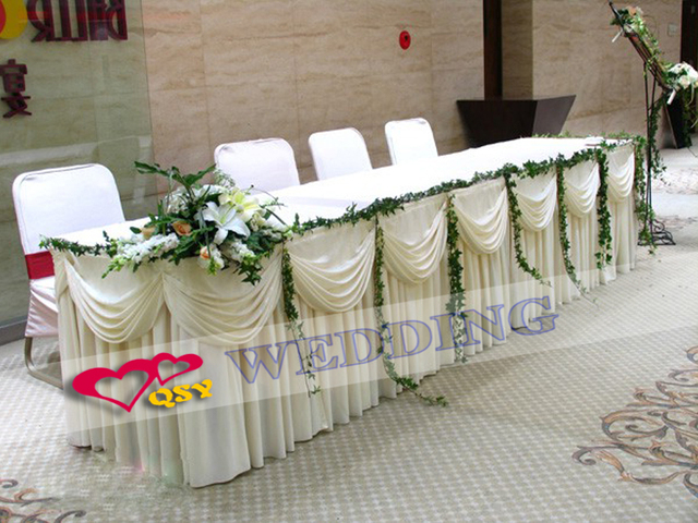 2017 Hot Sale Finished Cloth Table Cover For Guest Weclome Easy To Take Folded  Table For