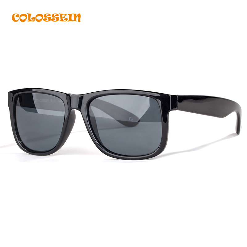 COLOSSEIN Classic font b Sunglasses b font Men Retro Classic Style Square Black Frame Polarized Glasses