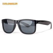 COLOSSEIN Classic Sunglasses Men Retro Classic Style Square Black Frame Polarized Glasses Male Loves Style 2017 New Fashion