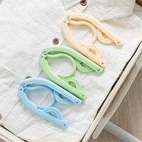 10 Pcs Lot Folding Portable Travel Hanger With Hooks Creative Multifunctional Hangers For Clothes Socks Lingerie