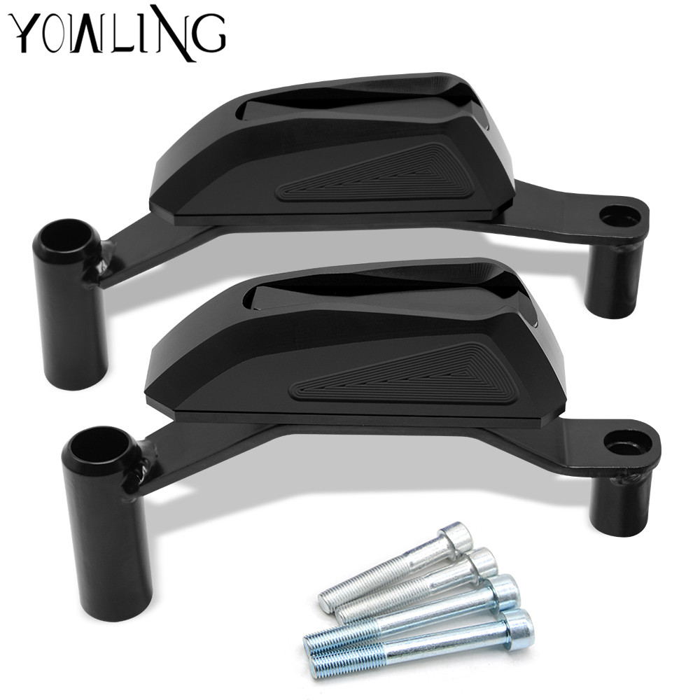 CNC Aluminum Black Left and Right Motorcycle Accessories Frame Slider Anti Crash Protector For Kawasaki z900 2016 2017 2018 cnc engine cover crash frame protector slider for kawasaki z900 z 900 2016 2017 motorcycle parts accessories aluminum anodized