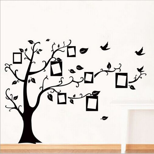 1set Large Size 90*120cm Black Color Family Tree Sticker Wall Decal