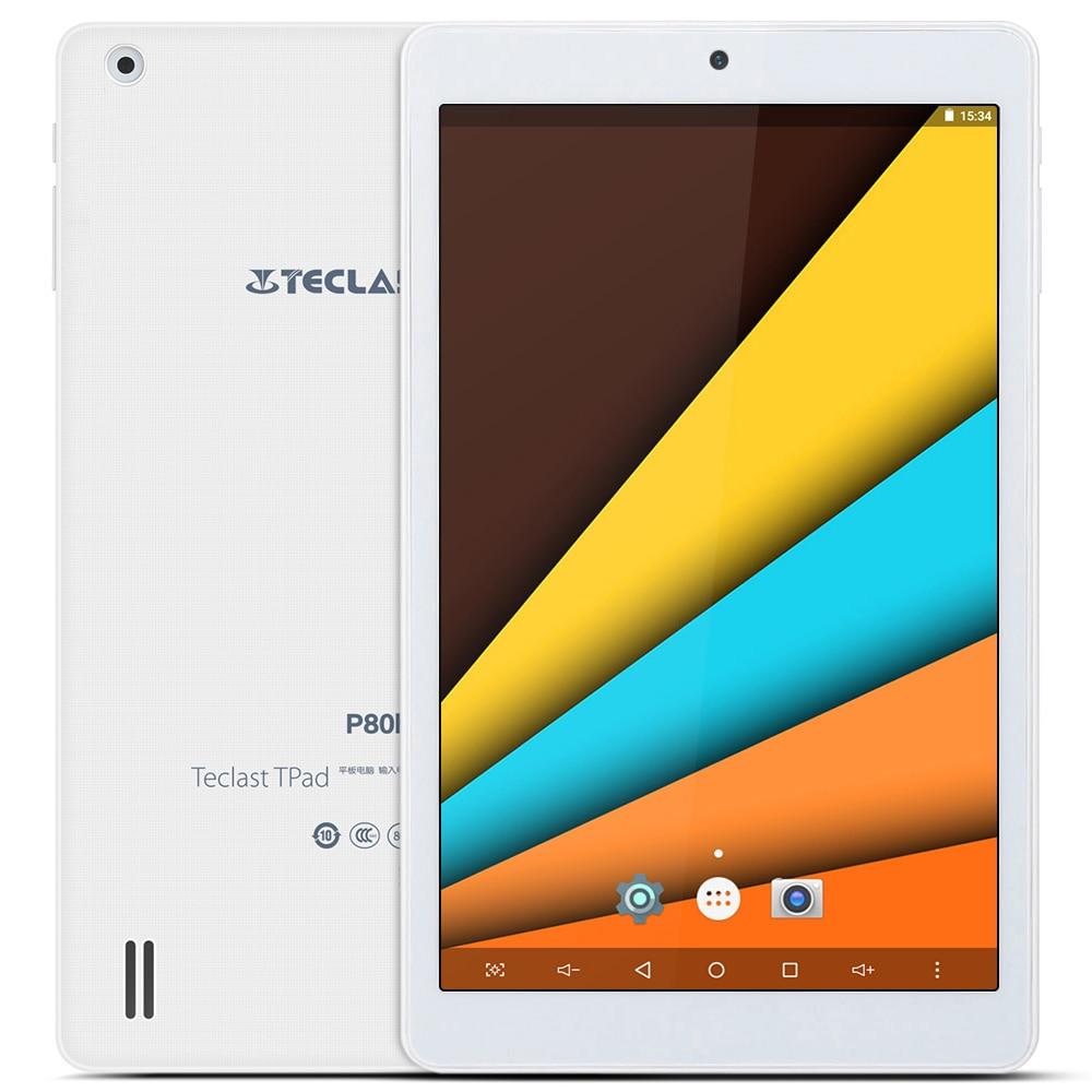 Teclast P80h PC Tablets 8 inch Quad Core Android 5.1 MTK8163 64bit WXGA IPS Screen 1GB 8GB Dual WiFi GPS Bluetooth 4.0 Tablet chuwi vx8 8 quad core ips android 4 4 tablet pc w 1gb ram 8gb rom dual cam wi fi gps white