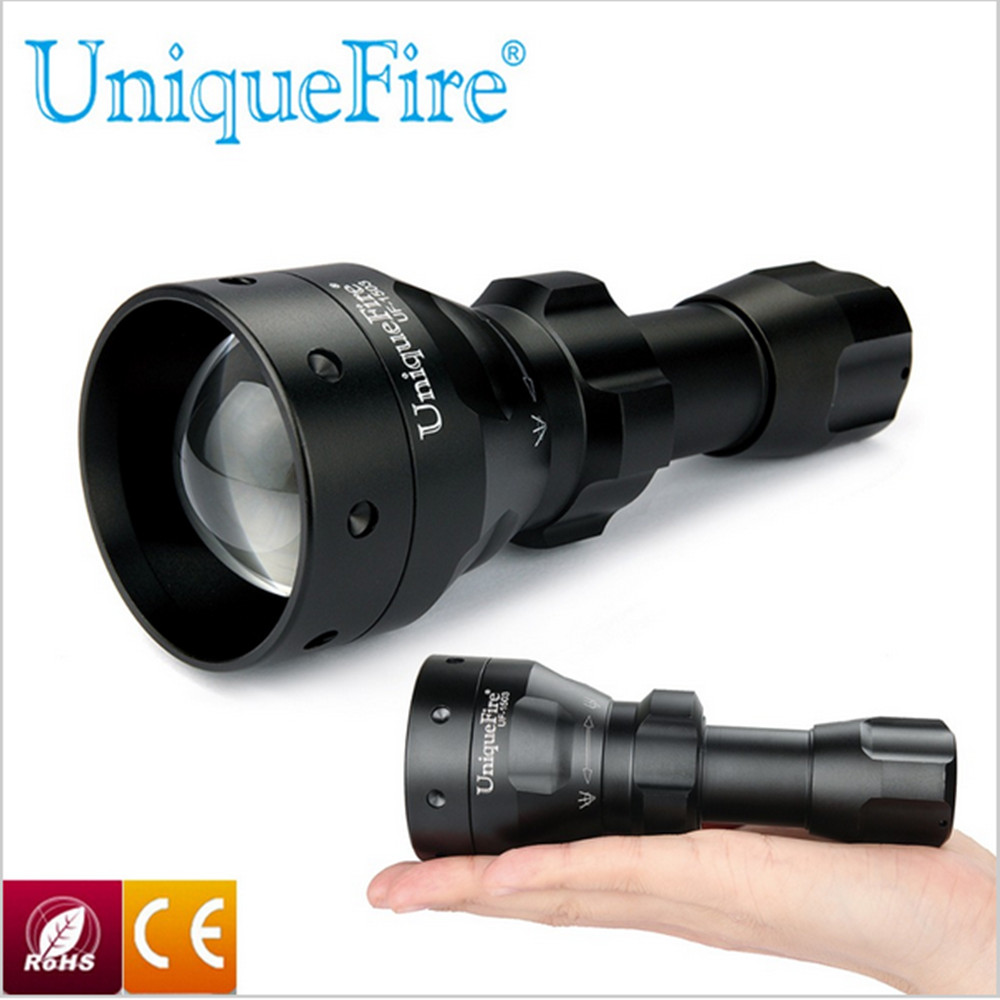 New T50 Uniquefire 1503 Zoomable LED Flashlight Torch 50mm Convex Lens 850nm IR LED Light Rechargeable Waterproof For Camping pneumatic impact wrench 1 2 pneumatic gun air pressure wrench tool torque 650ft lb set with sleeve