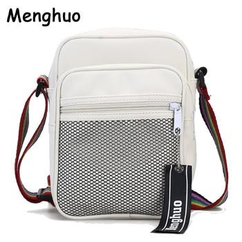 Menghuo Men Women Crossbody Bag Unisex Cheap Nylon Messenger Bag Travel Casual Shoulder Bag Leisure Fashion Bags Bolsos Mujerメッセンジャーバッグ