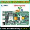 Полноцветный Асинхронный Контроллер Карты, HD-A30 + Wi-Fi, большой дисплей отправки карты, DIY СВЕТОДИОДНЫЙ экран контроллера