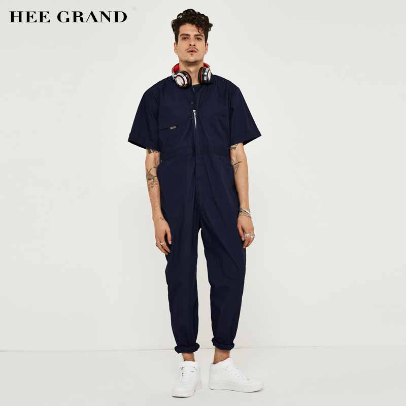 Hee Grand Men Rompers Casual Style High Quality Full -3404