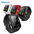 Wonlex U8 Touch Screen Hands-Free Smart Watch MTK6260 Bluetooth Multi-language Vibration Anti-lost for Android IOS
