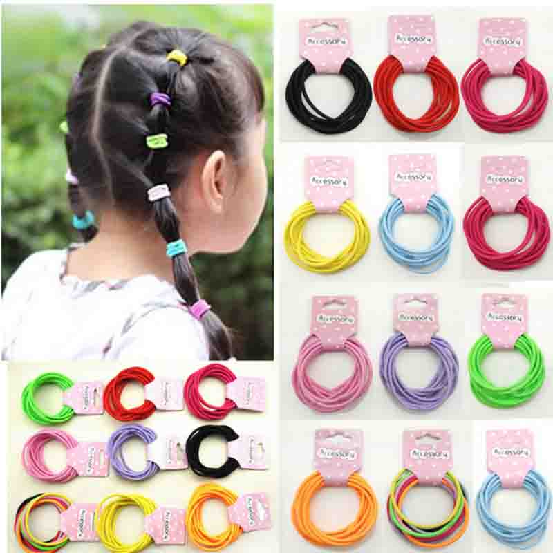 Girl's Accessories Apparel Accessories Fashion Kids Baby Female Solid Color Bow Hair Rope Rubber Band Girl Apron Rubber Band Tiara Hair Accessories Hair Ring