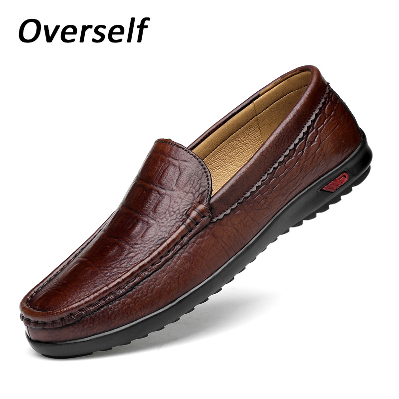 New Fashion Men's Shoes Big Plus Size High Quality Spring Genuine Leather Loafers Men Casual Shoes Soft Comfy Driving Moccasins brand summer causal shoes men loafers genuine leather moccasins driving shoes high quality flats for man big size 36 44 lb b0013