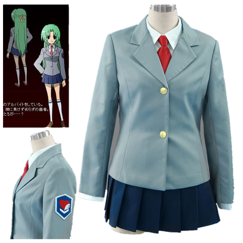Anime Higurashi No Naku Koro Ni Shion Cosplay Costume Custom Made Any Size