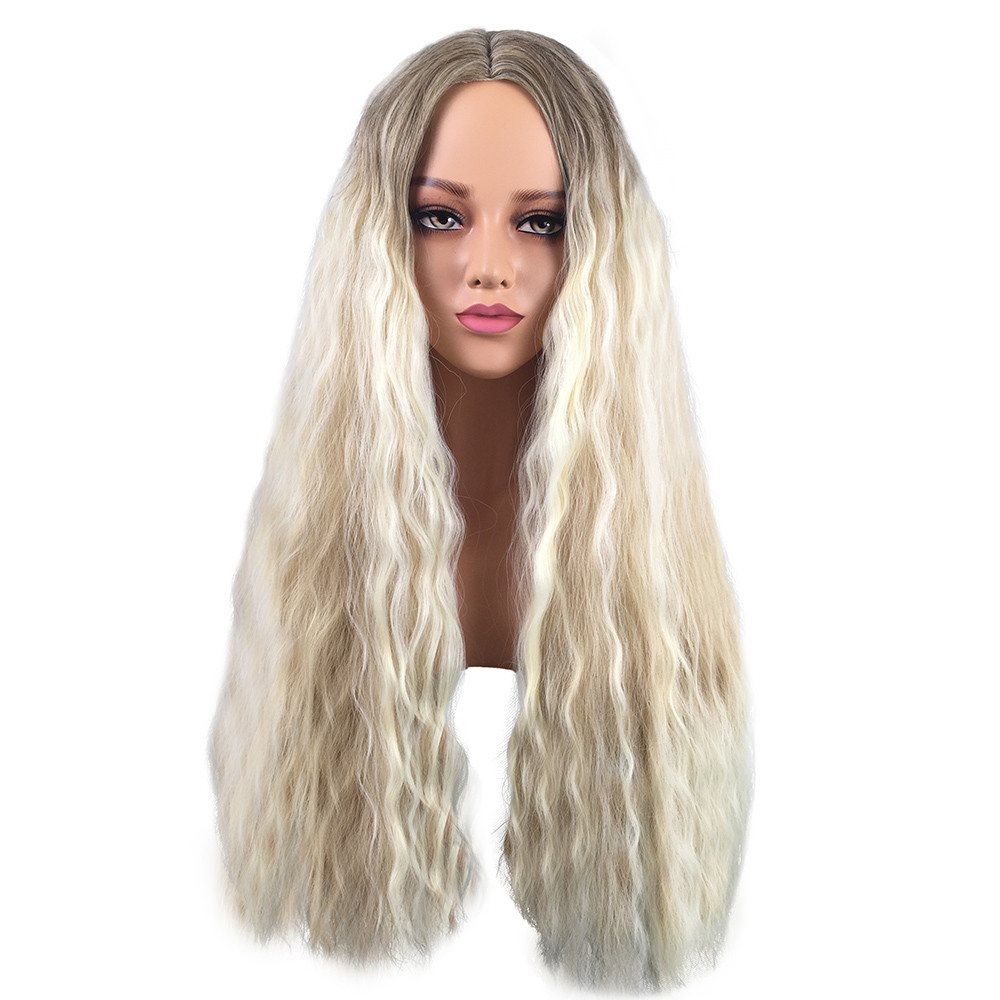Hair Care Wig Stands Synthetic Baby Hair Braided Double Lace Front Wig Long Blonde Ombre Black Wigs Blonde Drop shipping July25
