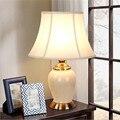 NUEVA Elegante Hecha A Mano Chino De Cerámica Blanca Mesa de Tela Led E27 lámpara para la Boda Deco Dormitorio Salón H 56 cm 1617