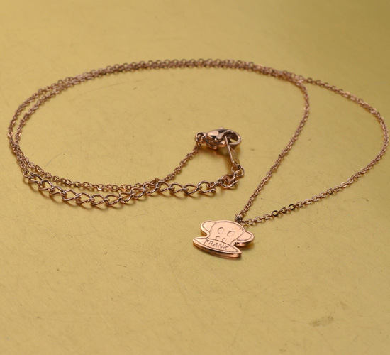 New zodiac monkey collarbone chain rose Gold color necklace female