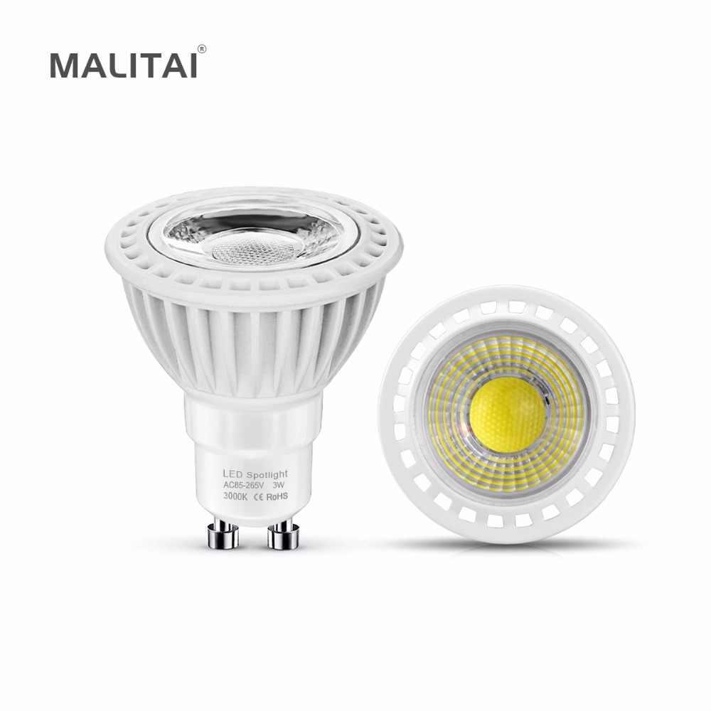 GU10 LED Spotlight Bulb 220V 110V 3W 5W 7W COB MR16 LED 12V Spot light lamp AC/DC 12V-24V NON-Dimmable Aluminum Bulb GU5.3