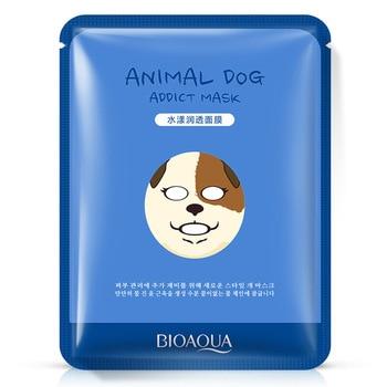 100pcs/lot BIOAQUA Dog Animal Series Facial Mask for Winter Moisturizing Skin Shrink Pores Control Oil