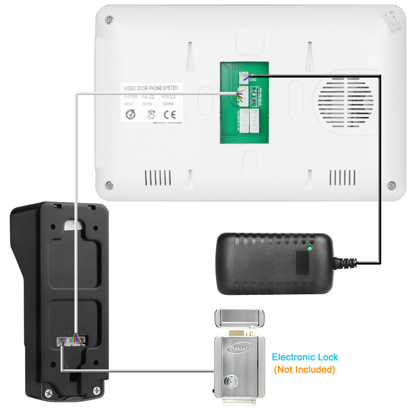 2 Camera 1 Monitor Video Intercom Door Camera Wire Video Entry Video
