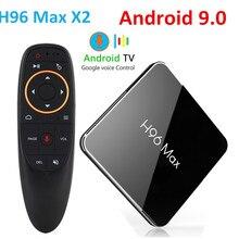 H96 Max x2 스마트 TV 박스 안드로이드 9.0 Amlogic S905X2 LPDDR4 쿼드 코어 4GB 32GB 64GB 2.4G 및 5GHz Wifi 4K 2G 16G 셋톱 박스