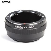 Contax Yashica CY 렌즈 용 FOTGA 어댑터 링 Sony E Mount NEX 3 5C 5N 5R 카메라
