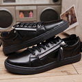 New Men Casual Shoes With 3 colors For Men PU Spring/Autumn Flat With Solid Lumbar Correction Superstar Shoes  Plus Size 39-45