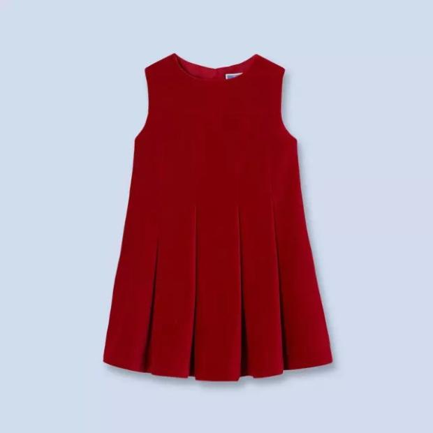 new year  spring  2016  new corduroy Pleated Dress Dress Red Princess Dress скворечники esschert design скворечник