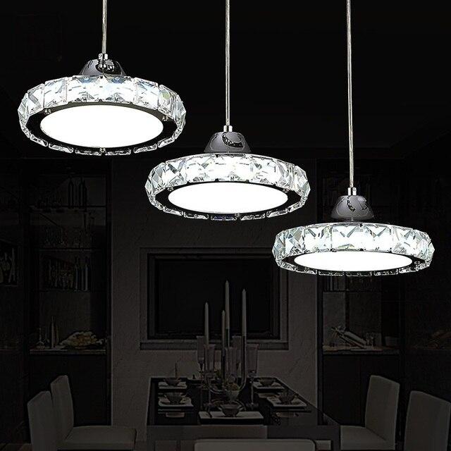 Restaurant Anhänger Lichter Kristall Lampe Drei Runde LED Esstisch  Kronleuchter Küche Wohnzimmer Bar Decke Lampe