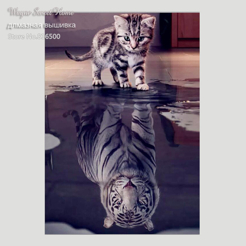 5D Diy Diamond Painting Cross Stitch Animals Cats And Tigers Full Square Diamond Embroidery Rhinestone Painting Kit Indoor Decor5D Diy Diamond Painting Cross Stitch Animals Cats And Tigers Full Square Diamond Embroidery Rhinestone Painting Kit Indoor Decor