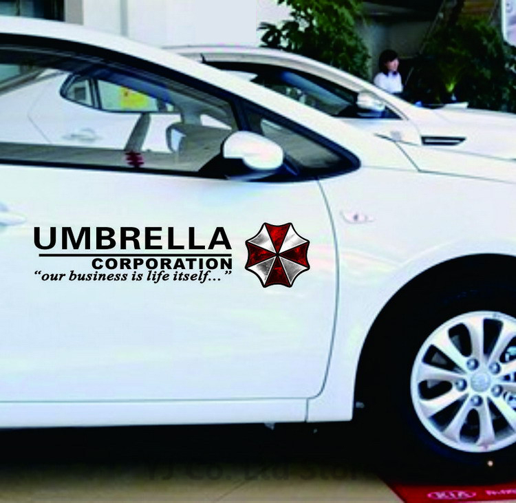 Car Styling protective umbrella Resident Evil personality reflective sticker whole car body stickers car decoration accessories arrow pattern car body reflective warming mark sticker golden red silver 10 pcs