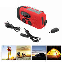 Emergency Hand Crank Generator AM/FM/WB Compact Compact Radio powerful 3 LED flashlight for Outdoor Hiking Running Camping