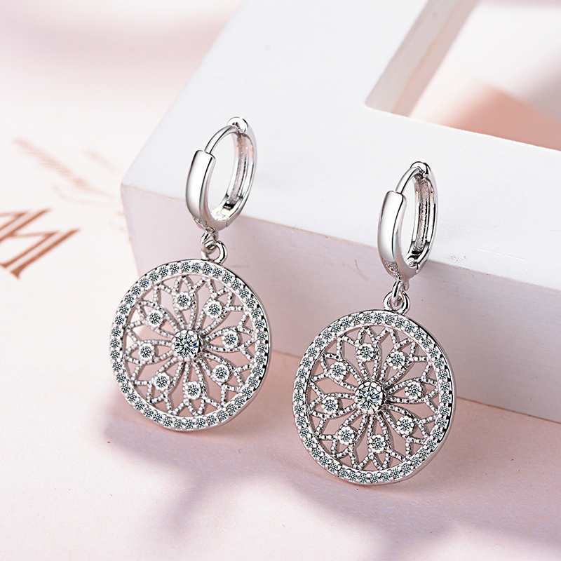 Original Creative Real 925 Sterling Silver Dreamcatcher Round Stud Earrings For Women Fashion Silver 925 Jewelry Gift E630Original Creative Real 925 Sterling Silver Dreamcatcher Round Stud Earrings For Women Fashion Silver 925 Jewelry Gift E630