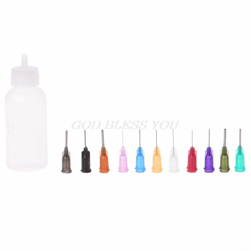 1 Set 30 Ml Transparent Abgabe Dispenser Flasche Für Rosin Solder Flux Paste Mit 11 Nadeln Feine Verarbeitung Schweißen Lichtströme Schweißen & Löten Supplies
