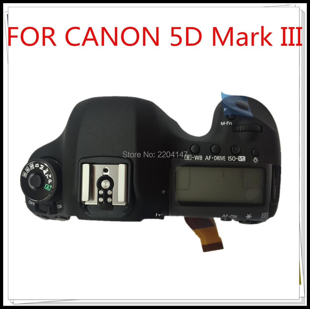 100% Original NEW5D3 LCD Top cover head Flash cover for Canon EOS 5DIII top 5D Mark III open unit 5D3 Digital Camera Repair Part new top cover small lcd display parameters for canon eos 6d digital camera repair part