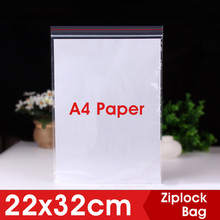 22x32cm Clear Plastic Ziplock Bags Clothes Sundries Zip Lock With Zipper Thick Shoes Garment Storage Bag Organizer