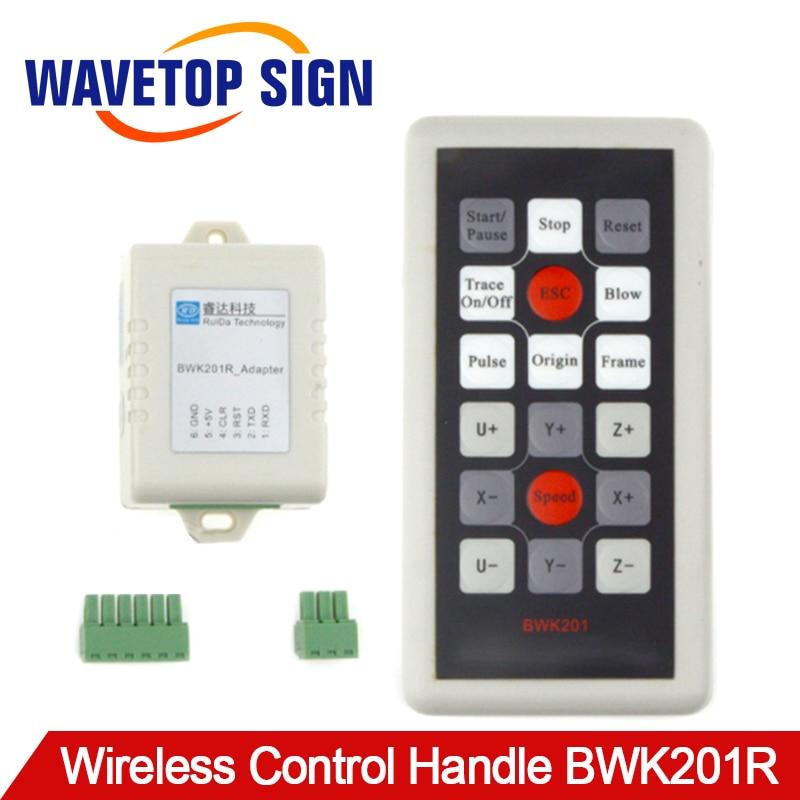 WaveTopSign Ruida Wireless Operating Handle BWK201R for RDC6442G RDC6442S Co2 Laser ControllerWaveTopSign Ruida Wireless Operating Handle BWK201R for RDC6442G RDC6442S Co2 Laser Controller