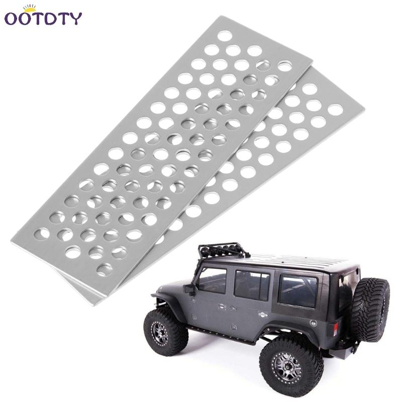 2x RC Crawler 1:10 Metal Sand Ladder / Sand Board Tools for Axial SCX10 Tamiya CC01 RC4WD D90 D110 TF2 Traxxas TRX-4 RC Car tamiya tt 01 sc430