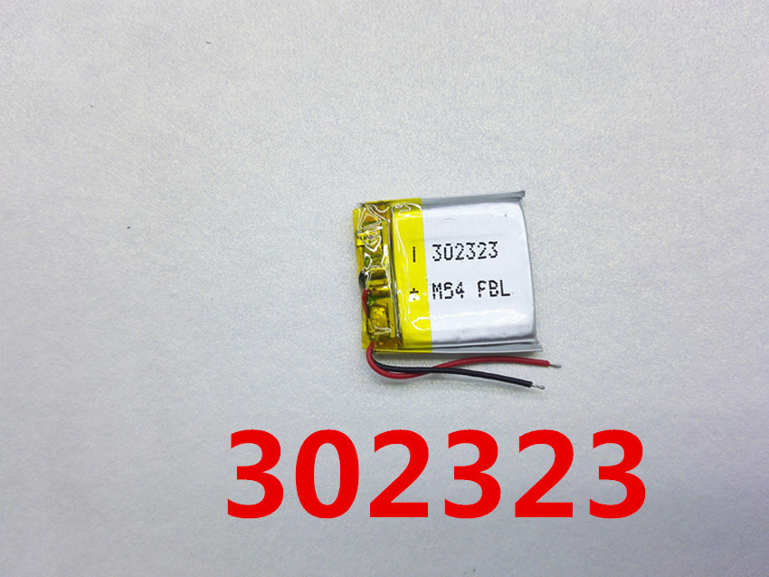 10 PCS free shipping 3.7V lithium battery 302424 032424 032525 <font><b>302525</b></font> 032323 125MAH battery Bluetooth image