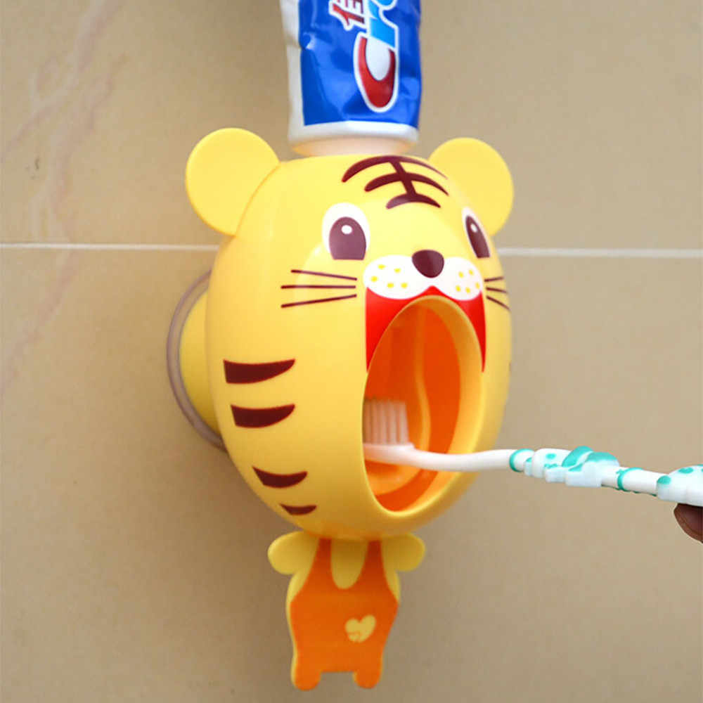 Automatic Toothpaste Dispenser Cartoon Animal Toothpaste Squeezer Holder For Bathroom Wall Mount Stand Bathroom Products #BL5