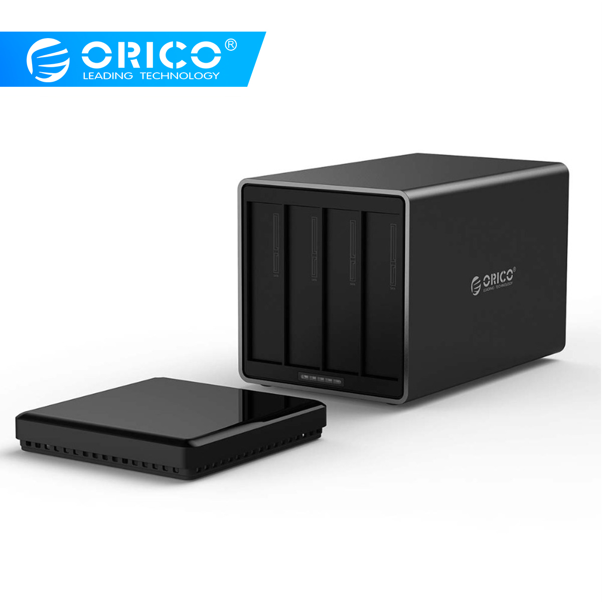 ORICO NS400RC3 Tool Free 4-Bay 3.5 Inch 5Gbps Type-C To SATA3.0 Hard Drive Dock With RAID Support UASP HDD Enclosure Case