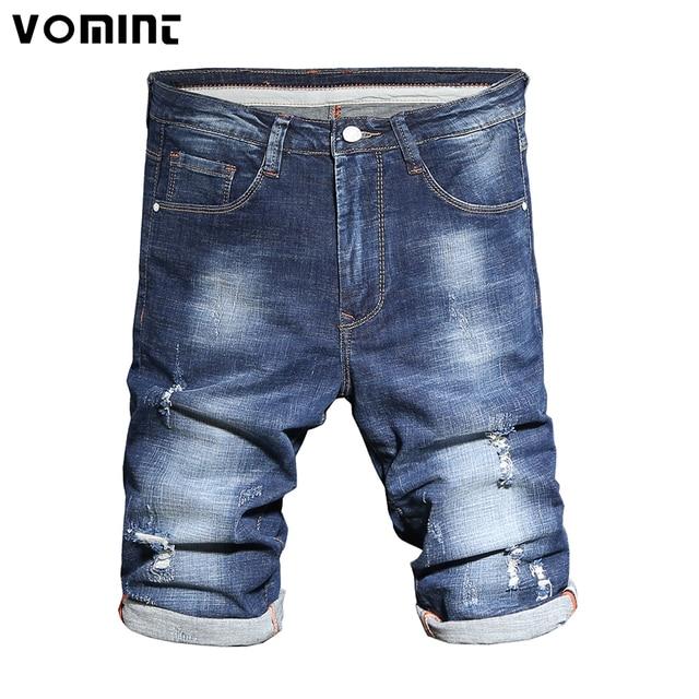 ee91674bc607 2017 NEUE Marke Sommer Herren Shorts Lässig Jean Länge Shorts Mittlere  Regular Fit Gerade Shorts Größe