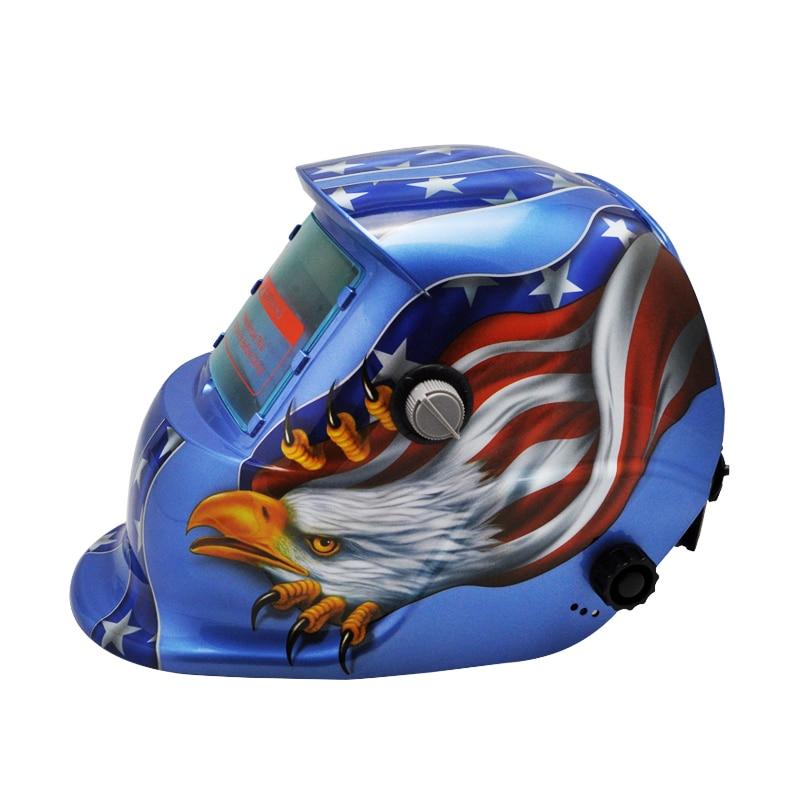 ФОТО New Pro Solar Auto Darkening Welding Helmet Arc Tig Mig Mask Grinding Welder Mask