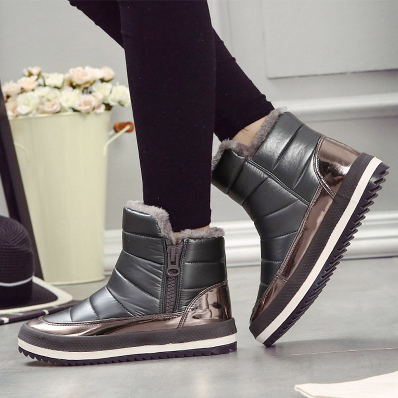 Women Boots Winter Snow Ugs Australia Boots Women Warm Black Shoes New Boot Womens Fashion 2018 Red Bottoms Femme Causal Booties goncale high quality band snow boots women fashion genuine leather women s winter boot with black red brown ug womens boots