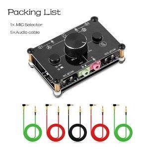 Image 5 - Gấu Nhỏ MC1023 Mini 2 Micro Âm Thanh Tai Nghe Loa Mic Switcher Trung Tâm Điều Khiển Âm Lượng Chọn Lọc Cho Máy Tính PS4 xbox