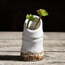 Креативные керамические цветочные горшки плантаторы украшения дома винтажные декоративные горшки для растений