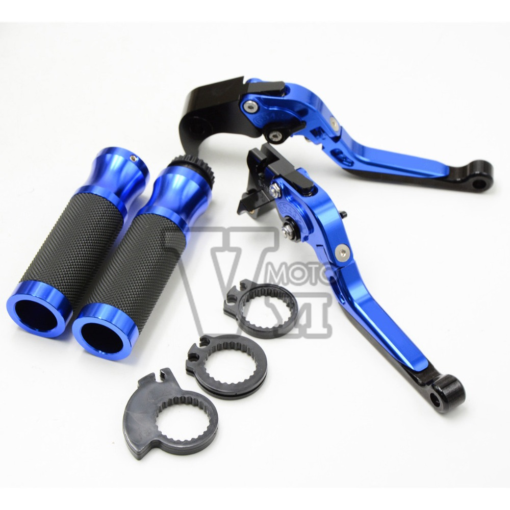 Blue Motorcycle Brake Clutch Levers&handlebar CNC for Yamaha yzf R1 R6 R6S FZIS FAZER 1000 FZ6S FAZER 600 XJ6MT-03 FZ8 FAZER 6 colors cnc adjustable motorcycle brake clutch levers for yamaha yzf r6 yzfr6 1999 2004 2005 2016 2017 logo yzf r6 lever