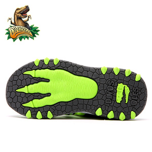 Image 5 - Dinosoles 아기 소년 샌들 라이트 업 메쉬 키즈 신발 3d 공룡 여름 해변 어린이 샌들 2019 led 빛나는 유아 신발