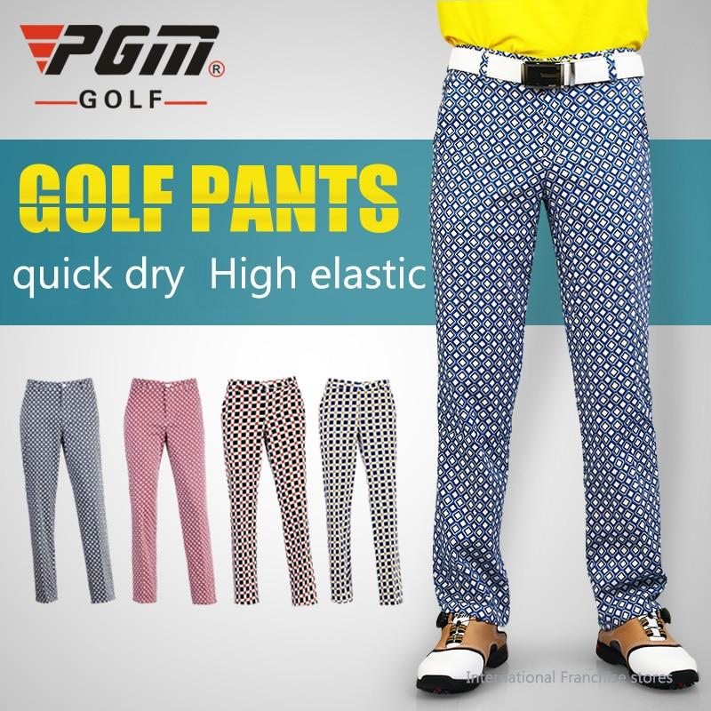 De Golf de Los Hombres Pantalones A Cuadros Pantalones de Golf ...