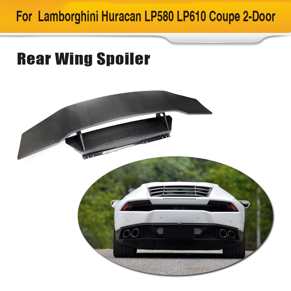 Good For Lamborghini Huracan D Style Carbon Fiber Rear Wing Spoiler Lp580 Lp610 Coupe 2-door 2014-2018 Car Accessories Fine Quality Spoilers & Wings