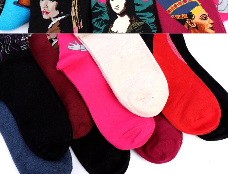 Hot Autumn winter Fashion Retro Women New Personality Art Van Gogh Mural World Famous Oil Painting Series Men Socks Funny Socks HTB1FKtXMFXXXXa9XpXXq6xXFXXX2